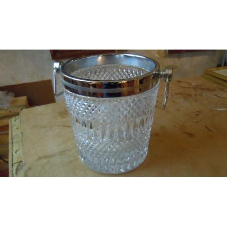 Sceau à champagne christal et acier