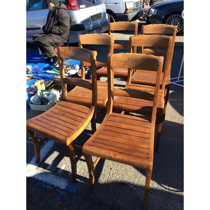 6 chaise bois exotique parfait etat. Black Bedroom Furniture Sets. Home Design Ideas