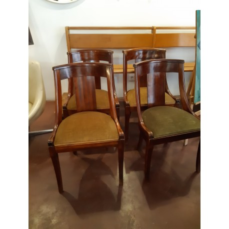 LOT DE 5 CHAISES ART DECO